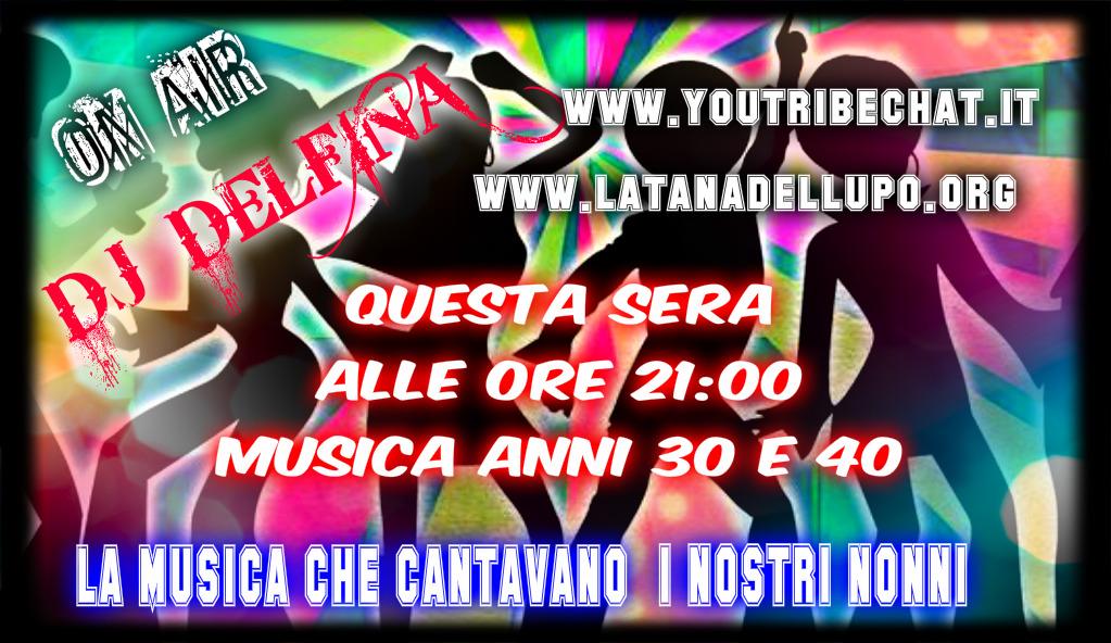 Photo of QUESTA SERA ALLE ORE 21:00 DJ DELFINA PRESENTA LA MUSICA DEI ANNI 30 E 40 .
